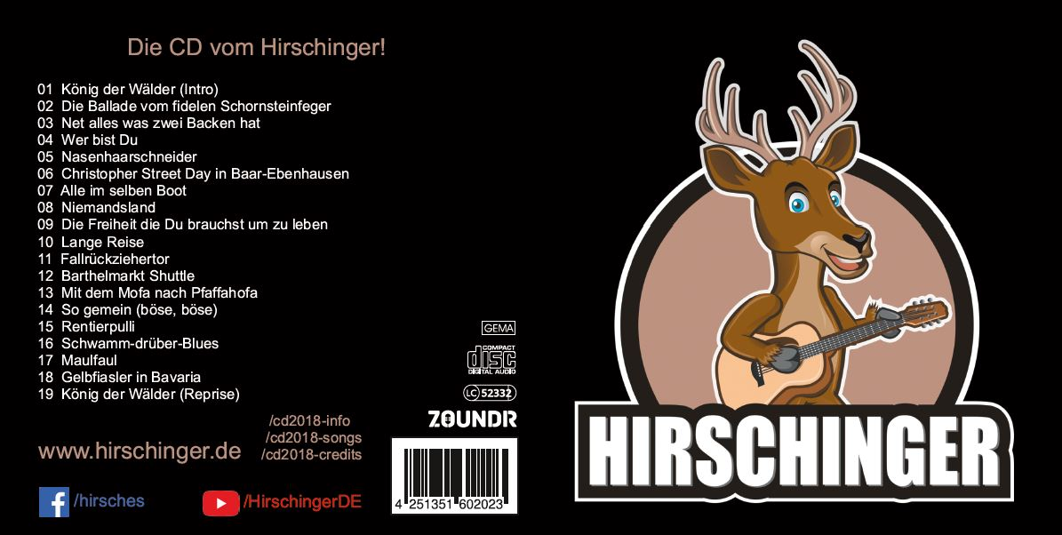 Die CD vom Hirschinger - Cover