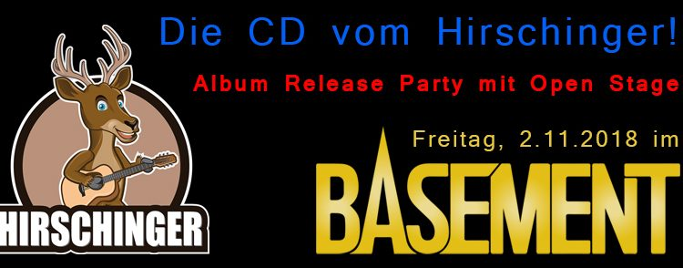 CD-Release-Party am 2.11.2018 – Basement/Großmehring